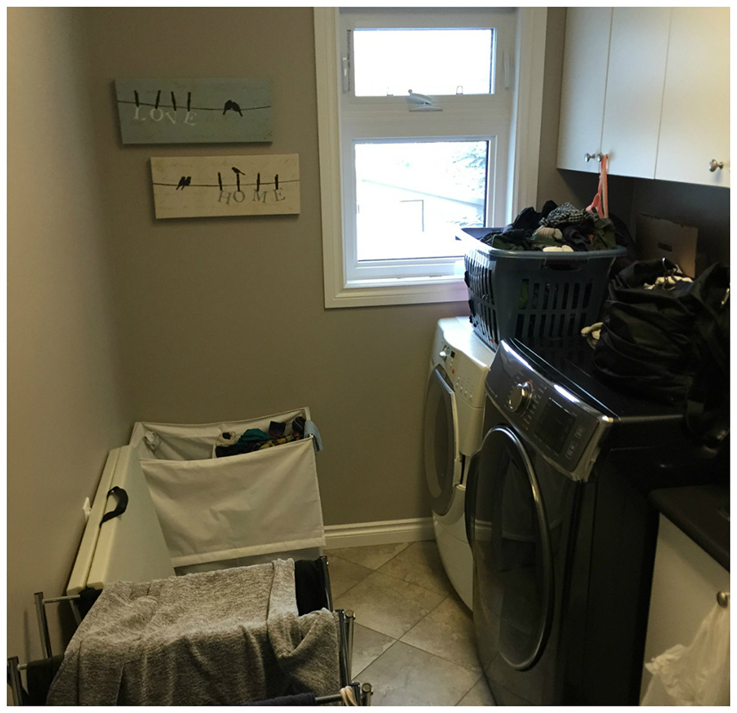 Remodelled laundry room